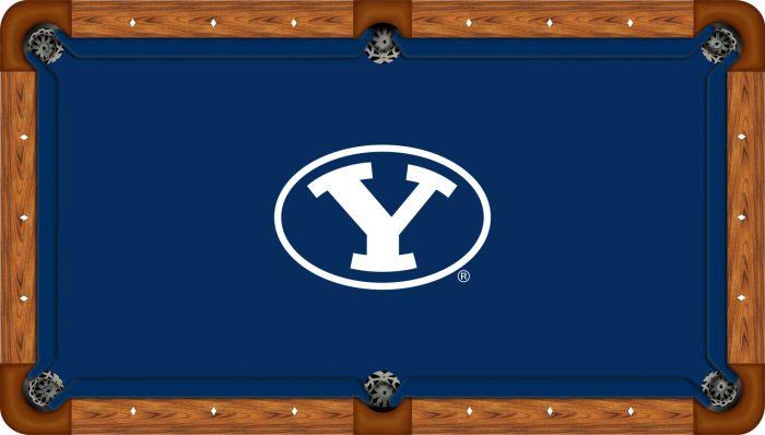 Brigham Young Logo Billiard Cloth