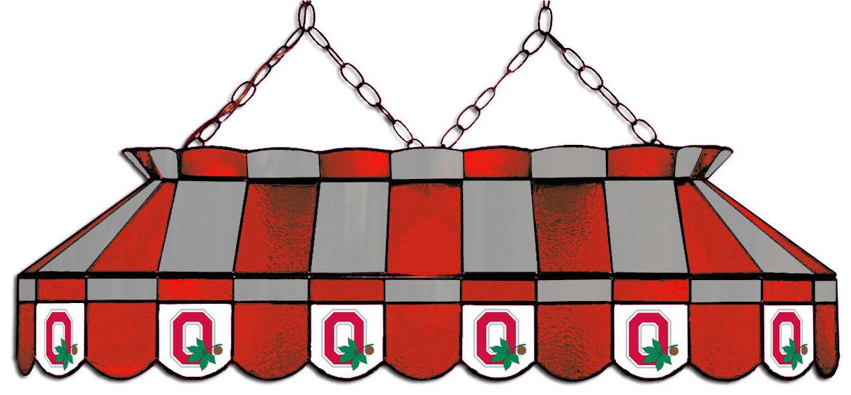Ohio State University Hanging Lamps Affinity Gamerooms