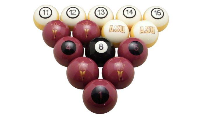 Arizona State University Billiard Ball Set