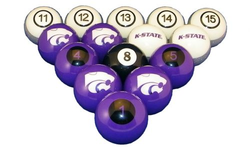 Kansas State University Billiard Ball Set