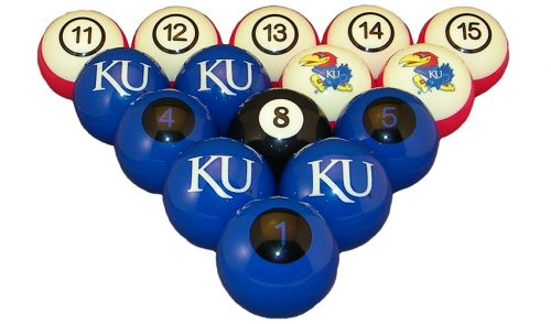 Kansas University Billiard Ball Set