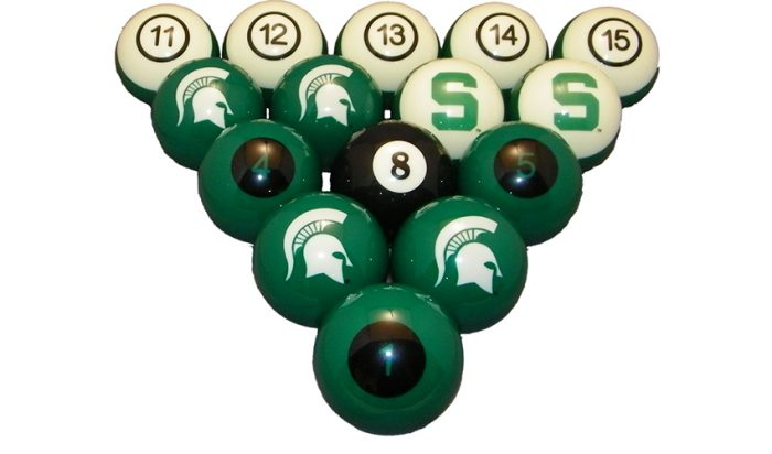 Michigan State University Billiard Ball Set