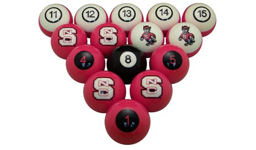 North Carolina State University Billiard Ball Set