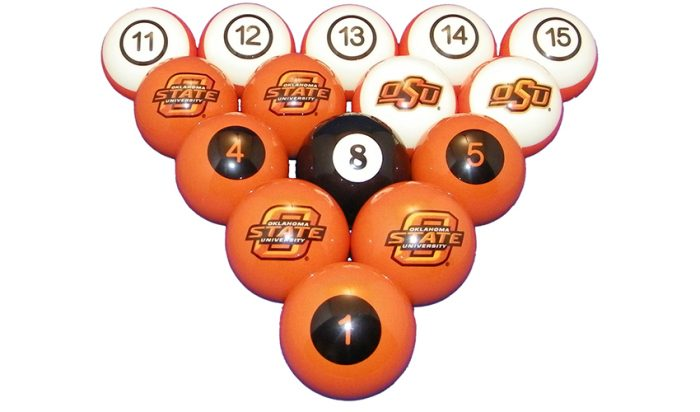 Oklahoma State University Billiard Ball Set