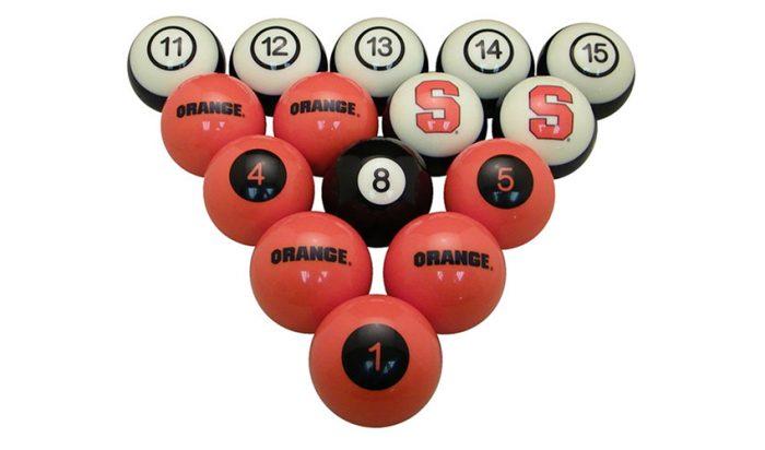 Syracuse University Billiard Ball Set
