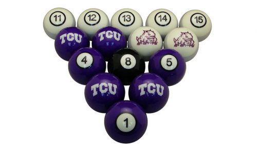 Texas Christian University Billiard Ball Set