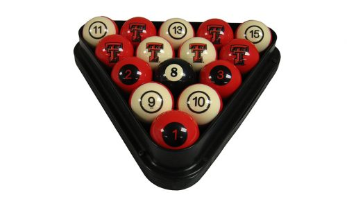 Texas Tech University Billiard Ball Set