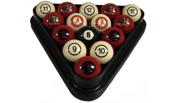 University of Alabama Billiard Ball Set