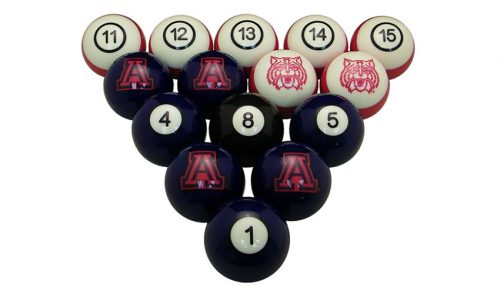 University of Arizona Billiard Ball Set