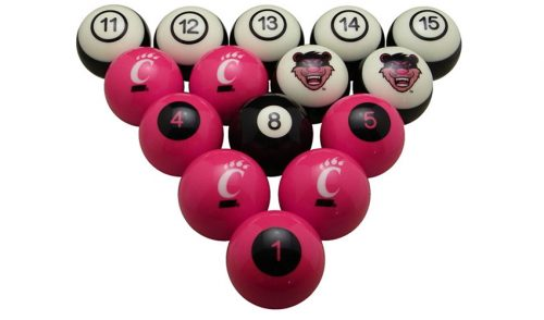 University of Cincinnati Billiard Ball Set