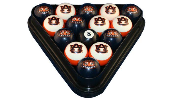Auburn University Billiard Ball Set