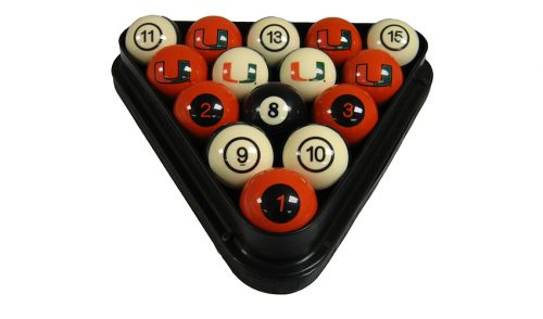 University of Miami Billiard Ball Set