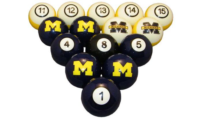 University of Michigan Billiard Ball Set