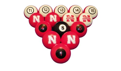University of Nebraska Billiard Ball Set