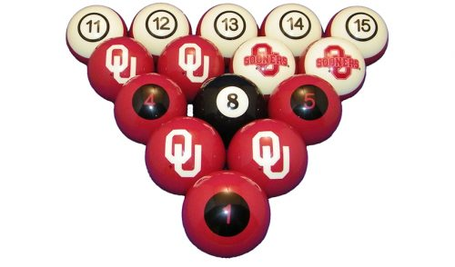 University of Oklahoma Billiard Ball Set