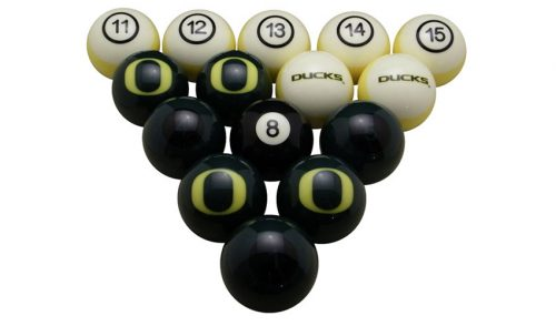 University of Oregon Billiard Ball Set