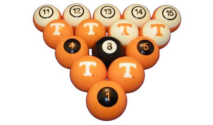University of Tennessee Billiard Ball Set