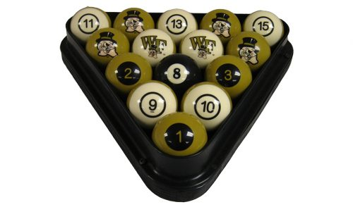 Wake Forest University Billiard Ball Set