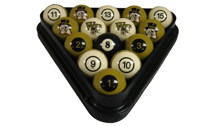 Wake Forest University Billiard Ball Set