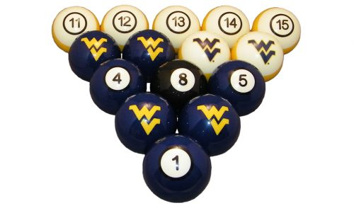 West Virginia University Billiard Ball Set