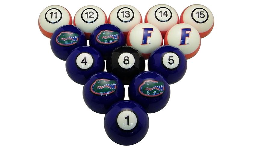 University Of Florida Billiard Ball Set Affinity Gamerooms