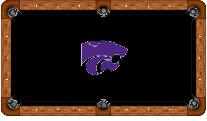 Kansas State University Logo Billiard Cloth