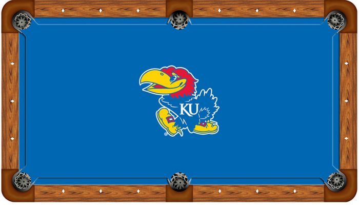 Kansas University Logo Billiard Cloth