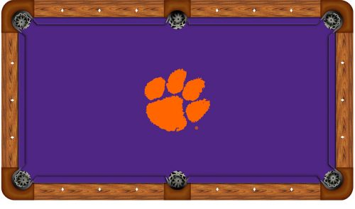 Clemson University Logo Billiard Cloth