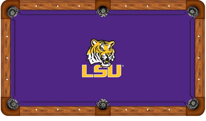 Louisiana State University Logo Billiard Cloth