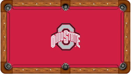 Ohio State University Logo Billiard Cloth