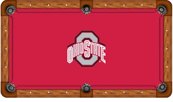 Ohio State University Logo Billiard Cloth