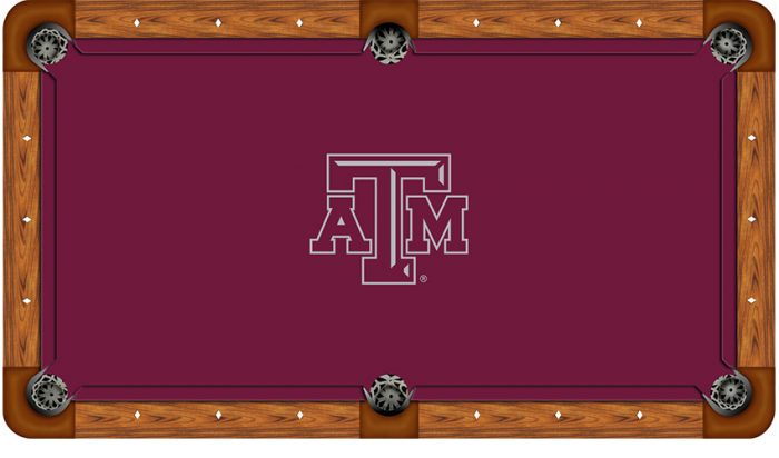 Texas A&M University Logo Billiard Cloth