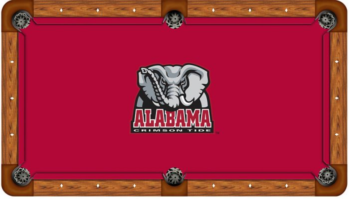 University of Alabama Logo Billiard Cloth
