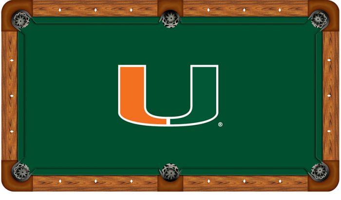 University of Miami Logo Billiard Cloth