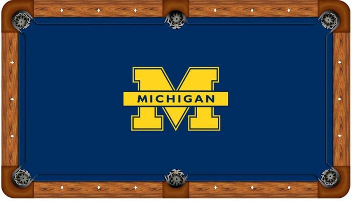 University of Michigan Logo Billiard Cloth