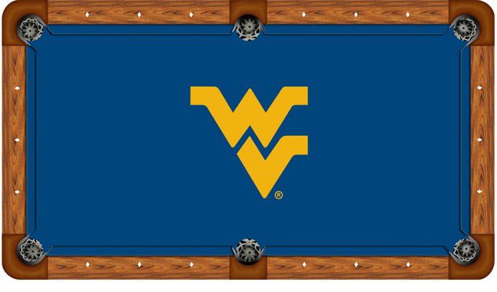 West Virginia University Logo Billiard Cloth
