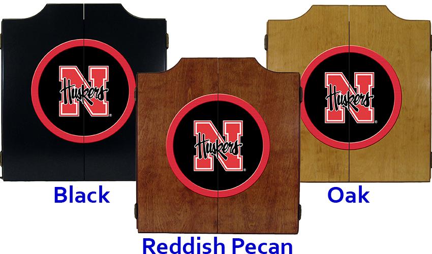 University Of Nebraska Dart Cabinet Affinity Gamerooms New