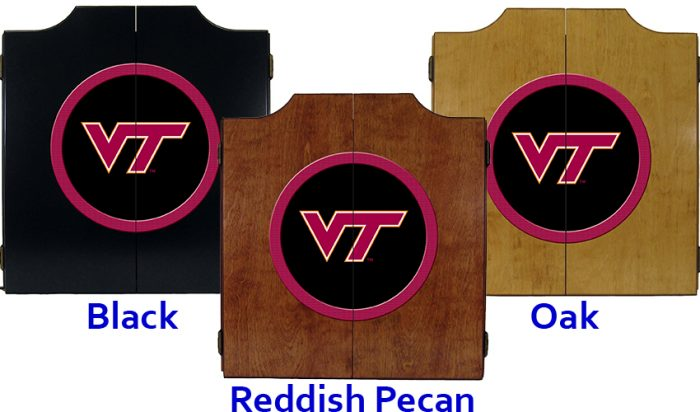 Virginia Tech Dart Cabinet